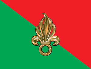 The Flag of the REAL French Foreign Legion: whose professionalism and valor have stood since 1831.