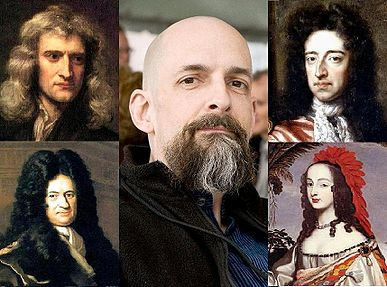 387px-Neal_Stephenson_and_Baroque_Cycle_characters