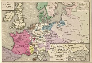 Europe, 1648... which was the closest map I could find to 1685...