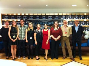 Iain M. Banks with the Orbit team at the 25th Anniversary of the Culture series