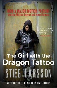 The Girl with the Dragon Tattoo film tie in front cover